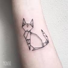 Resultado de imagen para origami cat tattoo