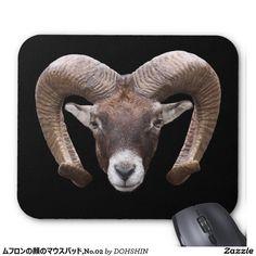 Mouse pad of face of mouflon, No.02
