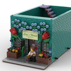 Florist School, Lego Wedding, Coral Charm Peony, Wedding Doves, Enchanted Florist, Lisa, Lego Modular, Rose Shop, Lego Projects