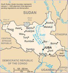 nice South Sudan Metro Map