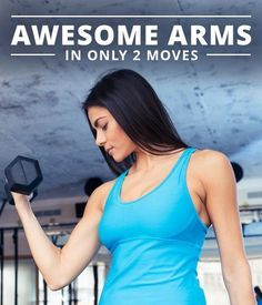 Simple Moves for Toned Arms- Try this Awesome Arms in Only 2 Moves Workout! #awesomearms #armsworkout