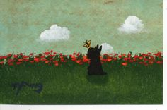 """Scottie Terrier Dog Butterfly,"" original art painting by Todd Young"