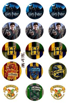 """Harry Potter 1"""" BCI on 4x6. Made these with the Picsart phone app!"""