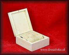 Krúžky na servítky 6 ks v krabičke (retro)