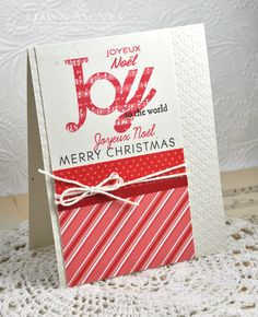 Joy To The World Card by Dawn McVey for Papertrey Ink (September 2013)