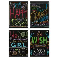 Chalk It Up Birthday Cards - Holli Conger