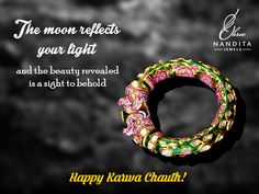 Cherish your togetherness with ShreeNandita's collection of classic and timeless Jewel, as we wish you a lifetime of joy on this auspicious day...  #karvachauth #IndiaJewellery #Polki #Gold #NewCollection #Style #Fashion #Bridalcollection #vintage #festive #FestiveJewelry #WomenJewelry #JewelryOnline