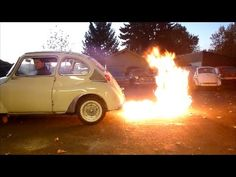 Flamethrowing Two Stroke Subaru 360 Sedan (maybe not 100% vintage, but still awesome)
