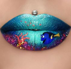 Aussie makeup artist paints popular film characters on her lips