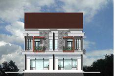 60 Desain Ruko 2 Lantai Minimalis dan Modern | Desainrumahnya.com Sims House Plans, Two Storey House, Home Fashion, Interior And Exterior, Multi Story Building, Mansions, Architecture, House Styles, Design