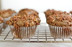Recipe for vegan & gluten-free apple crunch muffins from Oh She Glows.