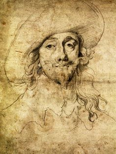Anthony Van Dyck Drawings | Anthony van Dyck, Self-Portrait, c.1630 / Portrait of Charles I, c ...