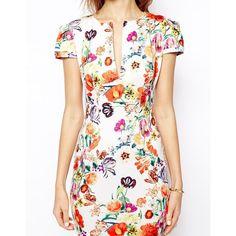 ASOS Mini Sexy Pencil Dress in Floral Print