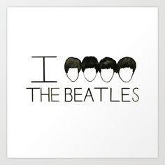 Beatles Art Print by Normandie Illustration - $20.00