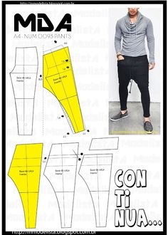 for any pants pattern?how to saweing women trousers ile ilgili görsel sonucuMod@ en Line recipes, home ideas, style inspiration and other ideas to try. Diy Clothing, Clothing Patterns, Dress Patterns, Sewing Patterns, Apparel Clothing, Fashion Sewing, Diy Fashion, Mens Fashion, Sewing Pants