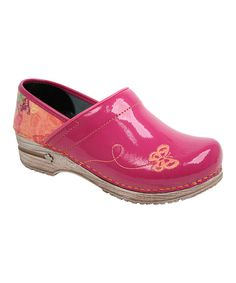 Look at this Fuchsia Professional Haley Leather Clog on #zulily today!
