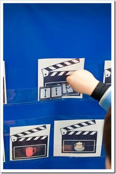 """Activities from the book """"If You Take a Mouse to the Movies"""" by Laura Numeroff (link to free printables) Preschool Literacy, Teaching Phonics, Teaching Kids, Classroom Themes, Classroom Activities, Book Activities, Hollywood Theme Classroom, First Grade Parade, Word Work Stations"""