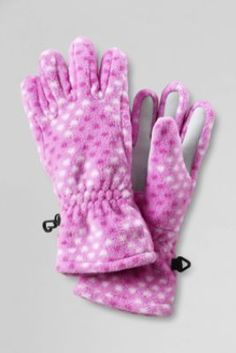 Girls' Printed ThermaCheck Gloves from Lands' End #Lansend #Together