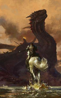 Jaime and Drogon