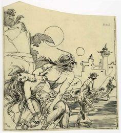 Original Comic Art:Illustrations, Roy G. Krenkel - Edgar Rice Burroughs Mars Preliminary IllustrationOriginal Art (circa 1960s). ... (Total: 0) Image #1