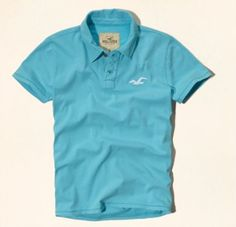 Polo Hollister Men's Point Vicente Polo Turquoise #Polo #Hollister