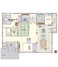 二世帯住宅 間取り プラン 完全分離 | 室內空間設計【2019】 | 二 ...