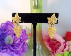 Reduced Again! Vintage Givenchy Goldtone Drop Dangle Earrings that measure 1.5 inches long and are signed Givenchy on back. $29.99 www.CCCsVintageJewelry.com Free Shipping to the United States.