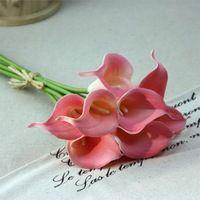PU Calla Casa Fiore Decorativo Fiori Artificiali Regalo della Festa Nuziale Flower Hotel Ufficio Decor 7 Colori All'ingrosso