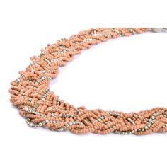 Colier PIECES Kammy Mahogany Rose Crochet Necklace, Rose, Jewelry, Fashion, Moda, Pink, Jewlery, Crochet Collar, Bijoux