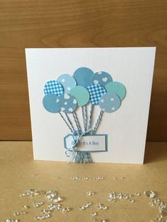 Handmade new baby card new baby new baby by ButterflyBoxCards