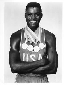 Carl Lewis = seeing him in 1984 was amazing! American dominating in USA and I ran track in high school. 1 of my heroes.