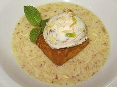 Helado de frutas de Aragón sobre torrija y crema de almendras para #Mycook http://www.mycook.es/receta/helado-de-frutas-de-aragon-sobre-torrija-y-crema-de-almendras/