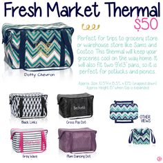 Fresh Market Thermal by Thirty-One. Fall/Winter 2015. Click to order. Join my VIP Facebook Page at https://www.facebook.com/groups/1603655576518592/
