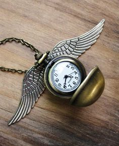 Unique snitch watch necklace Harry potter inspired #niezchinzpasji