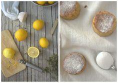 pastelitos jugosos de limón y avellana, sin azúcar (receta de Nigella Lawson)