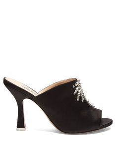 b53e0aec88d ATTICO Pamela Crystal-Embellished Satin Mules.  attico  shoes  sandals  Fresh Outfits