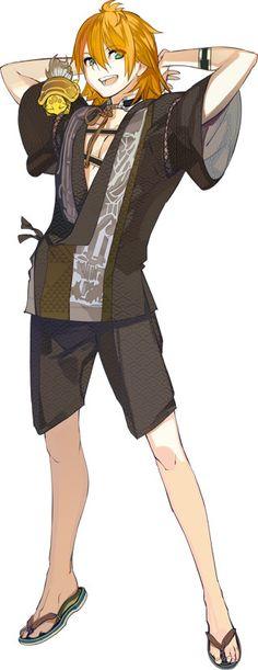Urashima Kotetsu costume in Citadel M Anime, Anime Guys, Anime Art, Ninja, Story Characters, Fantasy Characters, Character Inspiration, Character Design, Touken Ranbu Characters