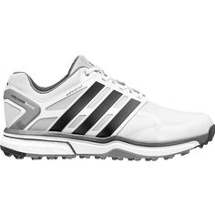 Adidas Mens Adipower Sports Boost Grey//Orange Golf Shoes ( Medium), Men's
