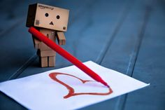 Danbo drawing heart
