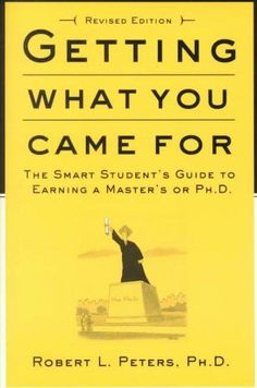 Is graduate school right for you? Should you get a master's or a Ph.D.? How can you choose the best possible school? Since its publication, Getting What You Came For has proved itself a necessity in h