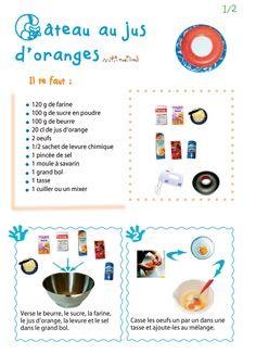 Imprimer la recette du gâteau au jus d'orange 1 - Tête à modeler