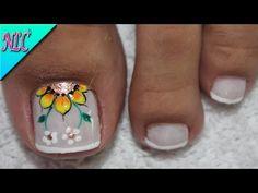 Pretty Toe Nails, Pretty Toes, Cute Nails, Toe Nail Color, Toe Nail Art, Nail Colors, Hair And Nails, My Nails, Basic Nails