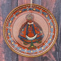 Our Lady of Solidad Plate / Platter / Charger Mexican Folk Art, Michoacan Mexico