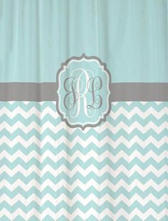 Need!!!!!!!! matches my wedding invitation! Monogrammed Shower Curtain