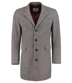 Men's+Grey+&+Black+Johnson+Wool+Cashmere+Blend+Coat