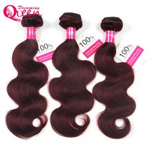 The Human Hair Emporium #99J Burgundy Color Brazilian Body Wave 100% Human Hair Ombre Hair Extension  Weave Bundles Dreaming Queen No Remy Hair //Price: $US $28.05 & FREE Shipping //   http://humanhairemporium.com/products/99j-burgundy-color-brazilian-body-wave-100-human-hair-ombre-hair-extension-weave-bundles-dreaming-queen-no-remy-hair/  #wigs_for_black_women