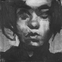 Ruth Franklin, untitled (rf3190), 2010, charcoal on paper, 10 x 10 inches, sold