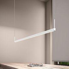 Thin-Line LED Linear Suspension Light - All For Decoration Contemporary Lighting, Suspension Light, Shine The Light, Lighting Design, Lamp, Led Pendant Lights, Led Lights, Lights, Sonneman