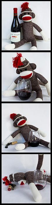 Wine Monkey Photograph by William Patrick - Wine Monkey Fine Art Prints and Posters for Sale