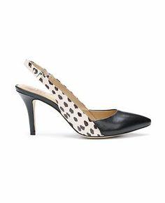 Lydia Exotic Leather Slingback Heels